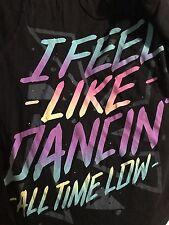 Rare!! ALL TIME LOW Band 'Feel Like Dancing'Heartbreak Black T Shirt Sz Large