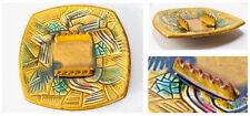 Vintage Large Mid Century Modern Retro California Pottery Multi Color Ashtray
