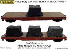 BLACK 'Canvas' Tarped Covered Sheeted Model Road & Railway Load, N Scale Gauge