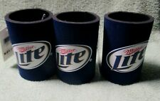 Miller Lite 3 Beer 12oz Can Coozies Coolers Koozie Coolie Huggie New With Tag.
