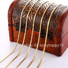 Bulk Wholesale 5pcs 2mm Gold Filled Fashion Womens Flat Snake Chain Necklace 18""