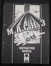 Mylstar M.A.C.H. 3 Instruction Manual Arcade video laser
