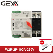 Geya Dual Power Automatic Transfer Switch Grid to Alternator 2P 63A 100A 220V