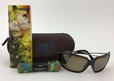Maui Jim MJ104-17 Bamboo Forest Sunglasses Black w/ Gold Accent, Grey Lenses