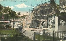 Amusement Scenic Railway Rocky Point Rhode Island C-1910 Seddon postcard 6691