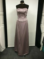 LADIES DUSKY LAVENDER EVENING/BRIDES GOWN   BONED BODICE BY ROMANTICA SIZE 16