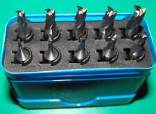 Set of 10 Clarkson HSSCO8 FC3 milling cutters High Quality