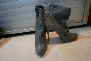 Christian Louboutin Grey suede ankle boots sz 39 UK 6