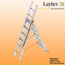 Layher Alu Allzweckleiter 3-teilig Multifunktionsleiter 3x6 Spr., Typ 1040.006