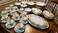 Antique Paul Muller Selb Bavarian Germany 12 Place Setting, w/ Extra's 82pcs