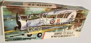 Airfix 1:72 Fairey Swordfish Aircraft Model Kit #285U - complete with stand