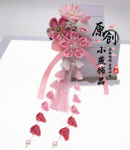 Tassels Rabbit Hairpin Hair Clip Tsumami zaiku Japanese for Kimono Han