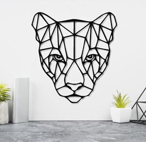 Puma Head Geometric Wall Art Home Living room Bedroom Decor large size