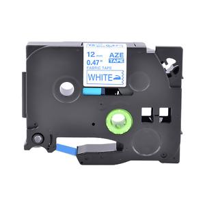 kompatibel mit Brother TZ-FA3 TZFA3 Blau auf Weiß Stoff Schriftband 12MM