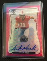2020 Leaf Metal Draft Austin Mack 4/10 Wave Pink RC Auto Autographed SSP BA-AM1