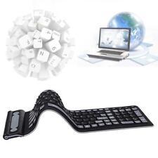 Wireless Waterproof Flexible Rollup Portable Folding Typing Silicone Keyboard J²