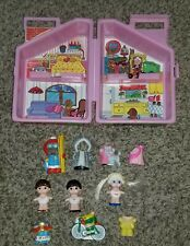 Vintage Dolly Pops By Knickerbocker Pink Doll House With Accessories & Extras