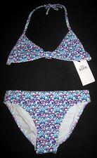 NEUF filles Ensemble bikini 11-12 ans haut dos nu & SLIP IMPRIMÉ PAPILLON M&S Ki