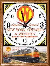 New York, Ontario & Western Wooden Frame Clock Train Railroad