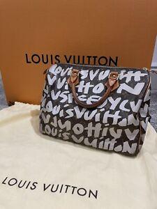 Limited Edition Medium Size Louis Vuitton Graffiti Monogram Speedy Handbag