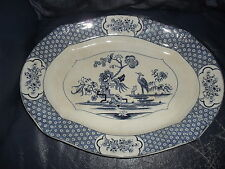 MIMOSA Blue & White Pattern Serving Dish Burslem Ltd S.Ford & Co Lincoln Pottery