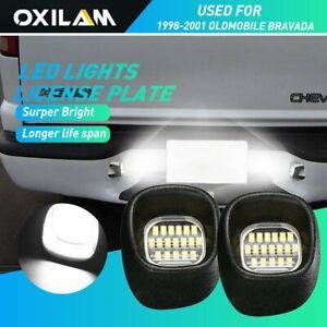 2X White Led License Plate Lights For 1998-2001 GMC Jimmy / 1998-2004 GMC Sonoma