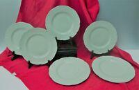 Porcelaine Haviland à Limoges Six assiettes dessert Celadon China