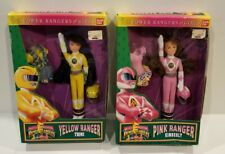 Mighty Morphin Power Rangers Pink & Yellow Ranger Girls Dolls Set New CIB