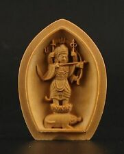 Collectable Boxwood Carved Marici Bodhisattva Statue Double-opened niches