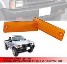 1 PAIR FRONT BUMPER LIGHT LENS ORANGE COLOR FOR MAZDA MAGNUM B2000 B2200 B2600