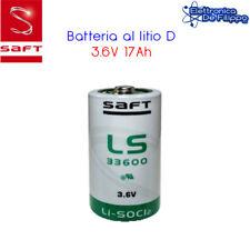 Batteria a Litio SAFT Cloruro di Tionile 3.6V 17.0Ah Tipo D