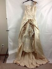 Mermaid Wedding Dress Bridal Gown Lace Sweetheart Beaded One Shoulder Rose 8/12