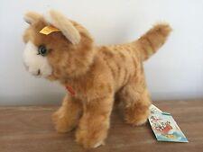 NWT Steiff Standing Kitty Cat Orange Ginger Green Eye 074943 Plush Kitten Gift