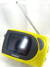 More details for casio model sy-20p pal portable battery powered lcd tv uhf vhf yellow retro