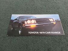 Sept 1979 TOYOTA RANGE - UK SMALL BROCHURE Corolla Carina Celica Cressida Crown