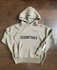 Fear Of God Essentials Knit Hoodie Harvest Size M