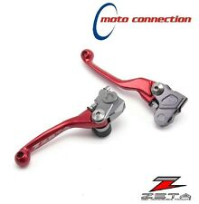 ZETA CNC RED FLEXIBLE LEVER SET HONDA CRF250 2007 - 2017 CRF450 2007 - 2016