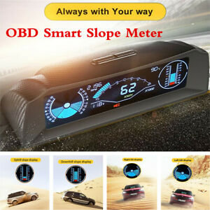 Car OBD2 Smart Slope Meter Inclinometer Multi-functional Speedometer HUD Meter