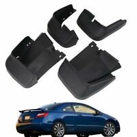 Molded Splash Guards Mud Flaps For 06-11 Honda Civic Sedan 4Dr Civic Coupe 2 Dr