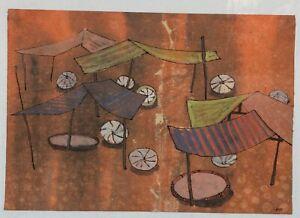 Abstract  Hanoi Orig painting Manh Duc Lam b1972 VUFA1992 USA2009