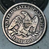 1858 O Seated Liberty Half Dollar 50C High Grade Details Silver US Coin CC5848