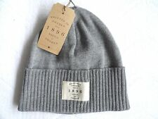SETILA of SWEDEN Grey XFine MERINO WOOL Beanie Toque Hat Mens Womens