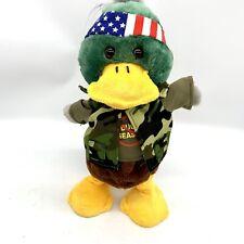 """Chantilly Lane Camo Duck Dynamo Singing Dancing Plush Duck """"Bad to the Bone"""""""