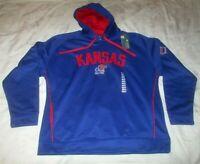 NWT University of Kansas Jayhawks Hooded Sweatshirt Men's XL Blue NCAA