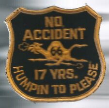 "Campbell 66 truck driver patch 17 yrs no accident ""humpin to please"" 3-1/4X3-3/8"