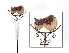 Regenmesser 23301 Eule Braun Metall Gartendeko Beetstecker Metall Stab Vogel