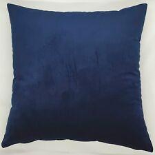 Handmade Plain Navy Blue Soft Velvet  Home Decor Cushion Cover 45x45 New
