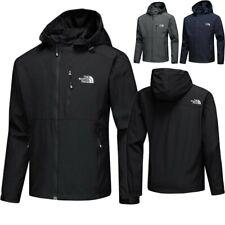Mens Windproof Waterproof Hiking Hooded Coat Zip Up Jacket Outwear Raincoat