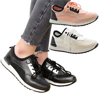 Ladies Womens Running Fitness Gym Light Sports Comfy Lace Up Trainers Shoes Size