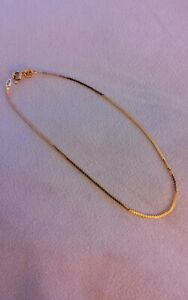 9ct Gold Anklet, Excellent Condition. Hallmarked 375